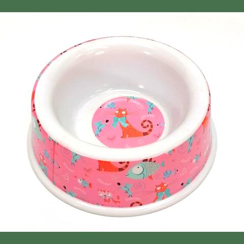 Plato mediano de melamina para perro/gato.