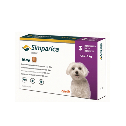 Simparica 10 mg 2.5 -5 kg