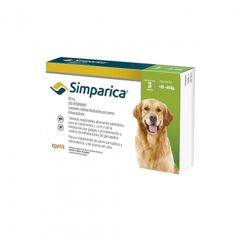 Simpárica 80 mg 20-40 kg 3 dosis