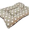 Cama colchoneta  para perro/gato, diseño gris con estrellas
