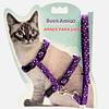 Arnés de gato estampados ajustables.
