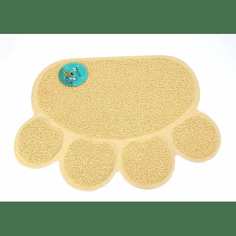 Alfombra pequeña de patitas  para comederos o areneros  (40 x 30 cms)