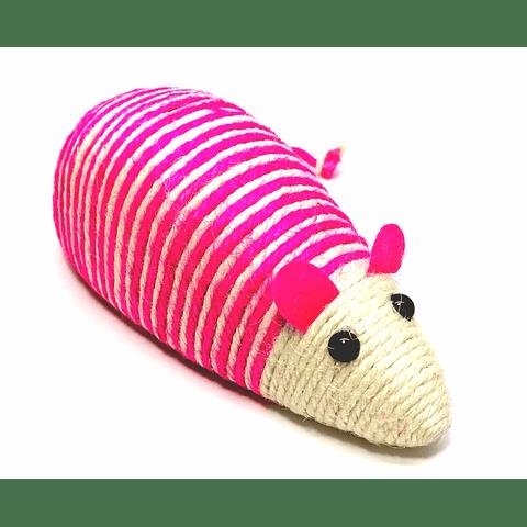 Rascador en forma de ratón  para gato.