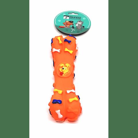 Juguete. Hueso  de goma con sonido para perro