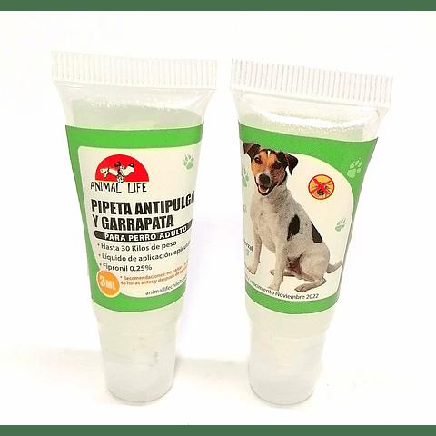 Pipeta antipulga y garrapata para perros  adultos.
