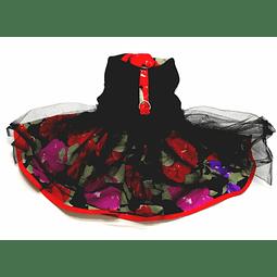 Vestido floreado negro. ( único)
