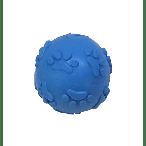 Pelota goma con sonido relieve patitas