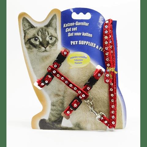 Arnes con lentejuelas para gato