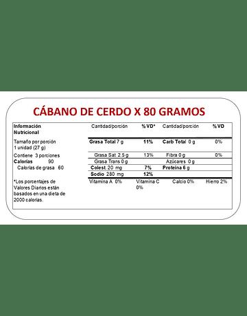 CABANO DE CERDO X 80 GR