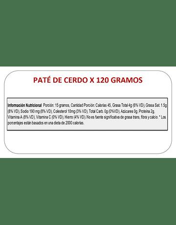 PATE DE CERDO X 120G