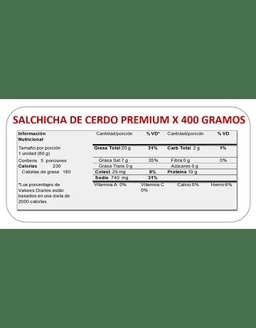 SALCHICHA PREMIUM x 400 GR