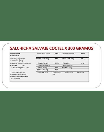 SALCHICHA SALVAJE x 300 GR