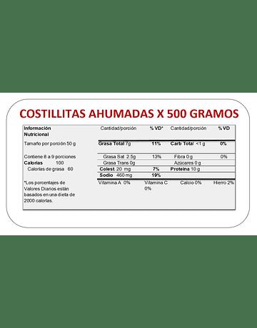 COSTILLITAS AHUMADAS X500