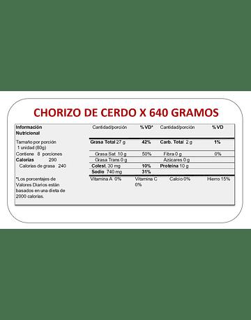 CHORIZO PREMIUM X 640 GR