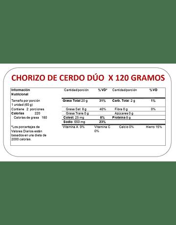 CHORIZO DUO 120 GR