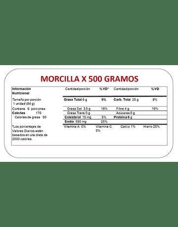 MORCILLA X 500 GR