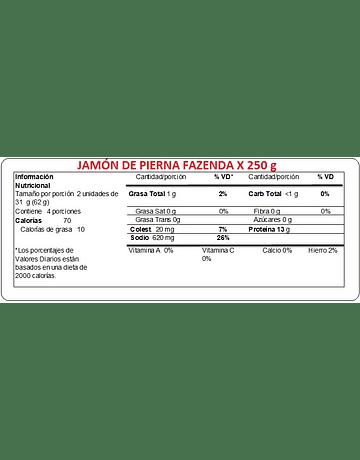 JAMON PIERNA 250G