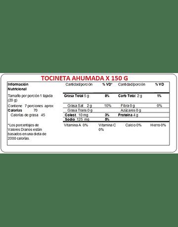 TOCINETA AHUMADA 150 GR