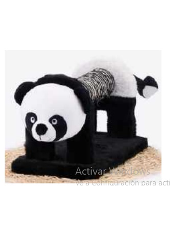 Rasguñador Oso Panda piel y sisal