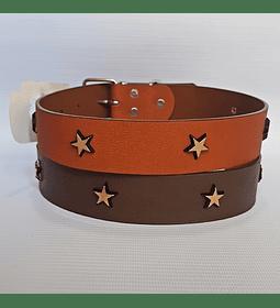 Collar Cuero Estrellas L