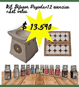 Kit Difusor+12esencias+25velas