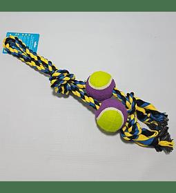 Cuerda doble con 2 pelotas tenis