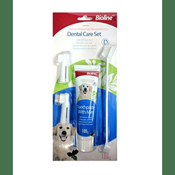 Kit Dental Pasta, Cepillo doble y 2Dedos Bioline
