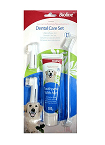 Kit Dental Pasta, Cepillo doble y 2Dedos Bioline