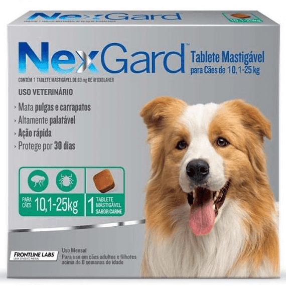 Nexgard 10-25kgs 1Tableta