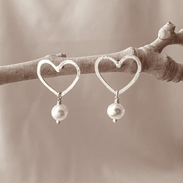 Aro corazón de plata