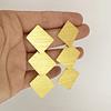 Aros cascada bañados en oro