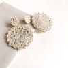 Aros flor tejidos con mostacillas