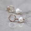 Aros mini de plata y perla