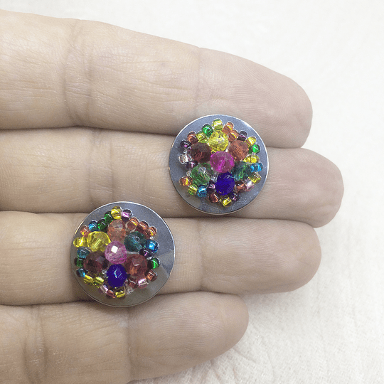 Aro Topito Cristales Acero
