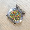 Brazalete Acero Cristales Multicolor