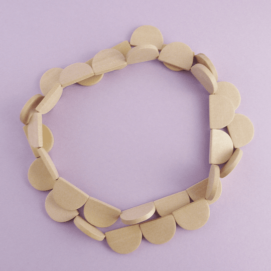 Collar Madera Blanco Invierno
