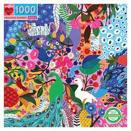 Jardín de Pavos Reales | Puzzle Eeboo 1000 Piezas