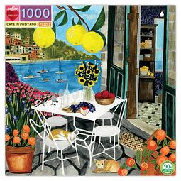 Gatos en Positano | Puzzle Eeboo 1000 Piezas