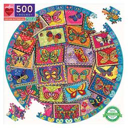Mariposas de Época | Puzzle Eeboo Redondo 500 Piezas