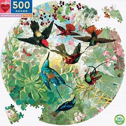 Colibríes | Puzzle Eeboo Redondo 500 Piezas