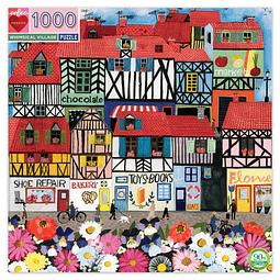 Pueblo Caprichoso | Puzzle Eeboo 1000 Piezas