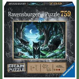 La Manada de Lobos | Escape Puzzle Ravensburger 759 Piezas