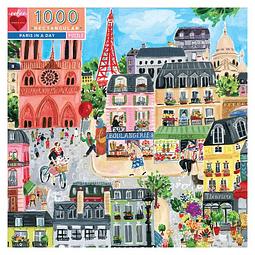 París en un día | Puzzle Eeboo 1000 Piezas