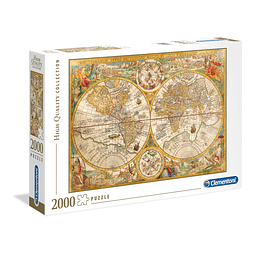 Mapa Antiguo | Puzzle Clementoni 2000 Piezas