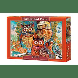 Búhos | Puzzle Castorland 2000 Piezas