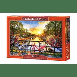 Ámsterdam pintoresca con bicicletas | Puzzle Castorland 1000 Piezas