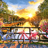 Ámsterdam pintoresca con bicicletas   Puzzle Castorland 1000 Piezas