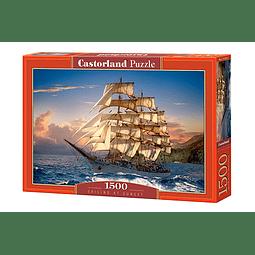 Navegando al Atardecer | Puzzle Castorland 1500 Piezas