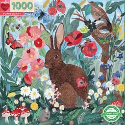 Conejito de amapolas | Puzzle Eeboo 1000 Piezas