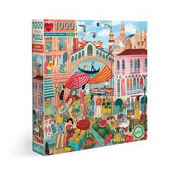 Mercado en Venecia | Puzzle Eeboo 1000 Piezas